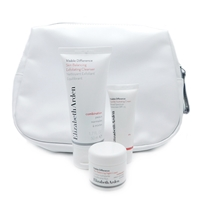 Elizabeth Arden White Bag Set: Exfoliating Cleanser 1.7 Fl Oz., Hydrating Cream SPF15 .5 Oz., Night Cream .25 Oz.