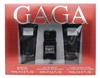 Lady Gaga EAU DE GAGA Set: Shower Gel 2.5 Fl Oz., Eau De Parfum .5 Fl Oz., Hydrating Body Lotion 2.5 Fl Oz.