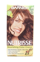 Garnier Nutrisse Nourishing Color Creme 535 Medium Golden Mahogany Brown One Application