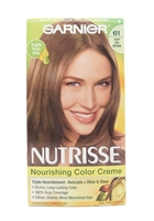 Garnier Nutrisse Nourishing Color Creme 61 Light Ash Brown One Application