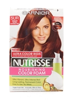 Garnier Nutrisse Nourishing Color Foam Ultra Color Reds 5UR Medium Ultra Intense Red One Application