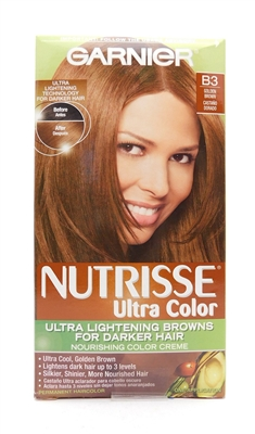 Garnier Nutrisse Ultra Color Ultra Lightening Browns for Darker Hair B3 Golden Brown One Application