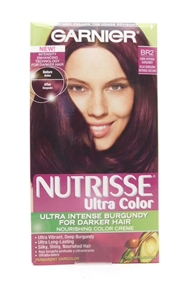 Garnier Nutrisse Ultra Color Ultra Intense Burgundy for Darker Hair BR2 Dark Intense Burgundy One Application
