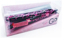 Go Styling Iron by FHI Heat with Free Heat Mat Pink and Black:  1 inch plates, ceramic tourmaline plates