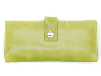 Iris Tyler Genuine Leather, Soho Card Wallet, Lime