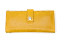 Iris Tyler Genuine Leather, Soho Card Wallet, Mustard