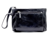 Iris Tyler Genuine Leather, Melissa Wristlet, Black