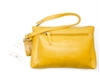 Iris Tyler Genuine Leather, Melissa Wristlet, Mustard