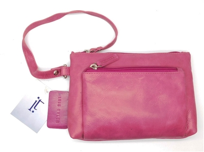 Iris Tyler Genuine Leather, Melissa Wristlet, BlacPink
