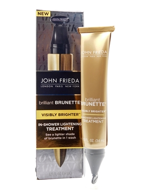 John Frieda Brilliant Brunette In Shower Lightening Treatment   1.15 fl oz
