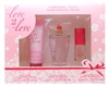 Love 2 Love Fresh Rose & Peach Gift Set: Body Lotion 2.5 Fl Oz., Eau De Toilette 3.4 Fl Oz., Eau De Toilette .375 Fl Oz.