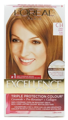 L'Oreal Excellence Creme Triple Protection Colour C34 Copper Blonde 1 application