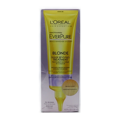 L'Oreal EverPure Blonde Shade Reviving Treatment 4.2 Fl Oz.