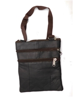LI Genuine Leather, Sling Bag with Organizer, Black