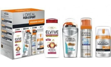 L'oreal Men Expert Kit WEEKEND EXPERT ~ Shampoo + Deodorant + Free Foam + Face