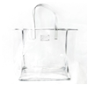 Michaels Kors EST. 1981 Clear Plastic with Silver Trim Tote Bag