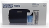 Michael Kors Extreme Blue set: Eau de Toilette Spray 4 Oz, Hair & Body Wash 2.5 Oz & On the Move Container