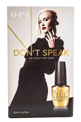​OPI Gwen Stefani  Don't Speak 18k Gold Top Coat  .5 fl oz