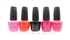OPI Nail Lacquer 5 Color Set: Shorts Story, Red Lights Ahead...Where?, Lady in Black, Pompeii Purple, Strawberry Margarita (each .5 Fl Oz.)