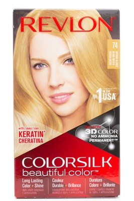 Revlon ColorSilk Beautiful Color; 74 Medium Blonde one appliction