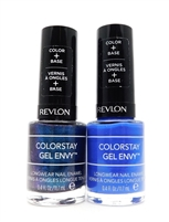 Revlon ColorStay Gel Envy Longwear Nail Enamel set of 2: 300 All In, 440 Wild Card (each .4 Fl Oz.)