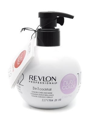 Revlon Nutri Color Creme 1002 White Platinum  9.1 Fl Oz.
