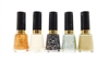 Relvon Nail Enamel 5 Color set: Gold Goddess, Sheer Sweetie, Graffiti Top Coat, Whimsical, Muse (each .5 Fl Oz.)