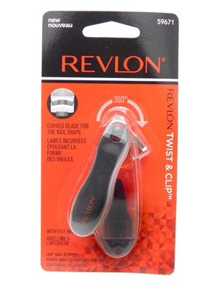 Revlon Twist & Clip Nail Clippers and File
