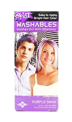 Splat Washables Hair Color Purple Swag 1.5 Oz.
