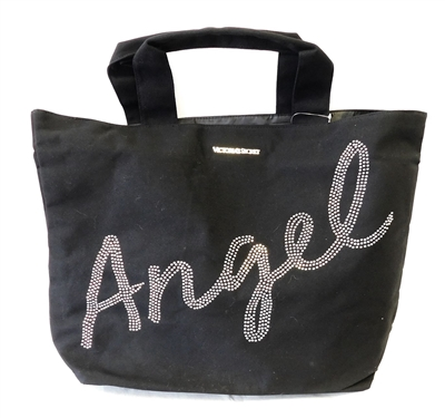 Victoria's Secret Angel Large Black Canvas Tote