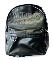 Victoria's Secret Black and Gold Studded Backpack with Zippers