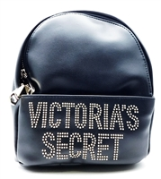 Victoria's Secret Black Studded Glam Rock Mini Backpack with Zippers