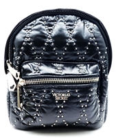 Victoria's Secret Black and Gold Studded Mini Backpack with Zippers