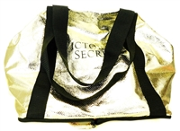 Victoria's Secret Gold Packable Tote Bag with Zipper
