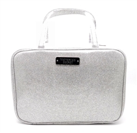 Victoria's Secret silver glitter Travel Case Makeup Bag