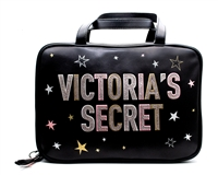 "Victoria's Secret Graffiti Jetsetter Travel Case;  2 Interior Zip Compartments Small Inner Zip Pocket, Hook   10 1/2"" L x 3½ "" W x 7 1/4"
