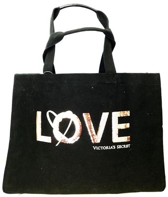 Victoria's Secret LOVE Black with Sequins Tote