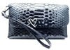 Victoria's Secret LOVE Black Wrist Clutch Wallet with Snap Closure