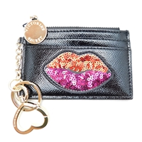 Victoria's Secret Lips Key Chain Coin Purse with Zipper and Mirror