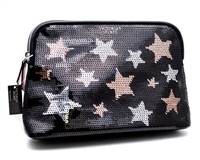 "Victoria Secret ""Life of the Party"" and Stars Sequin Makeup Bag"