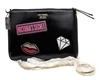 Victoria's Secret Patch Cross Body Pouch with Gold Color Chain