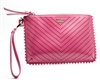 Victoria Secret Laser Cut Zippered Wristlet, Pink