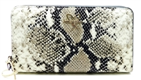 Victoria's Secret Snake Print Clutch with zipper