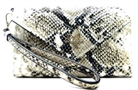 Victoria's Secret Snake Print Wrist Clutch Wallet with Snap Closure