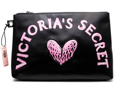 Victoria's Secret Wings Zippered Bag with Loop for Optional Wristlet Strap