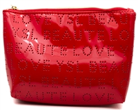 "Yves St Lauren Beaute Medium Size POUCH, Exterior 100% Polyurenthane, Lining 70% Polyester / 30% Cotton, Aprox 8"" x 5"""