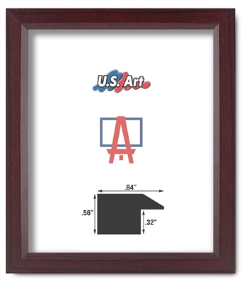 .84 inch Cherry Real Poplar Wood Single Hanging Picture Frame