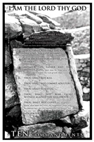 24x36 Ten Commandments, Religious Unframed Black Art Print Poster African-American