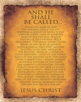 16x20 And He Shall Be Called.. Unframed Black Art Print Poster African-American