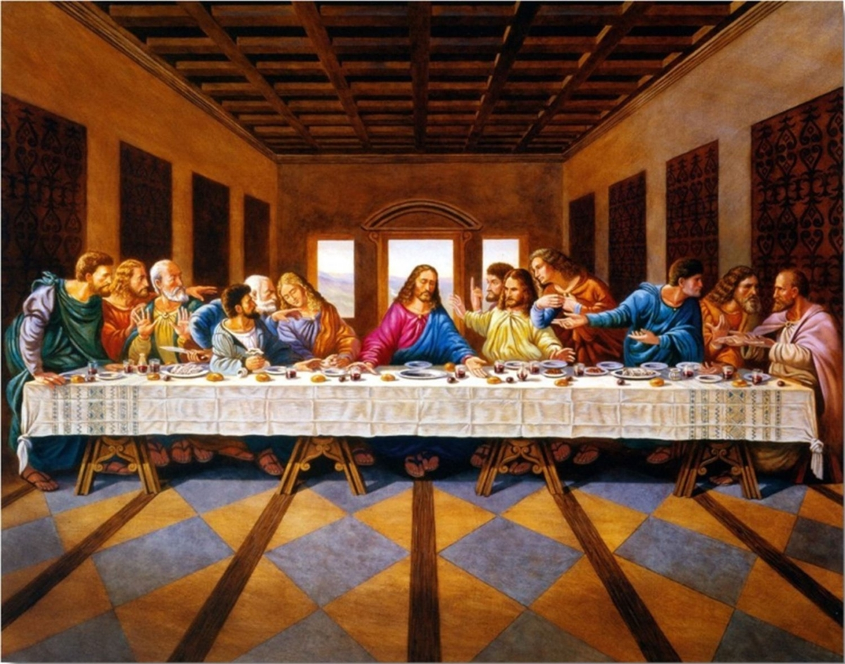 Jesus Christ The Last Supper Religious 22x28 Black Art